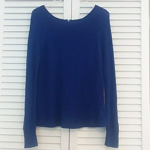 American Eagle Blue Knit Sweater with Zipper Back